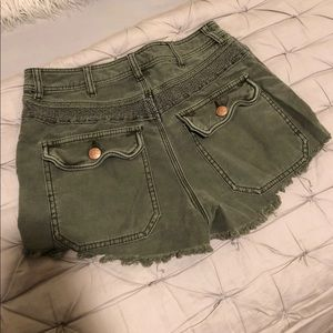 Free People Shorts - Free People Olive Green Shorts